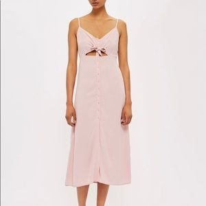 Topshop Knot-Front Midi Dress sz US8